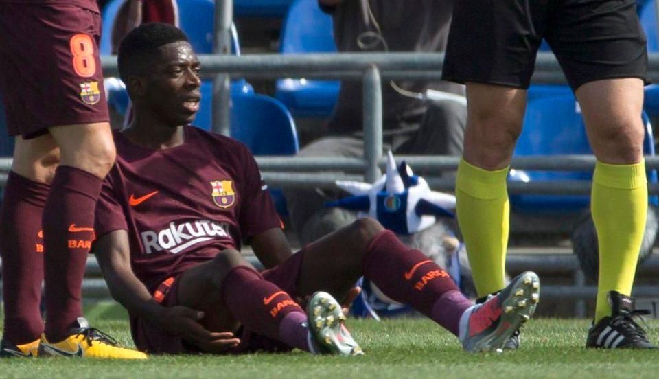 Dembélé es baja del Barcelona por una nueva lesión