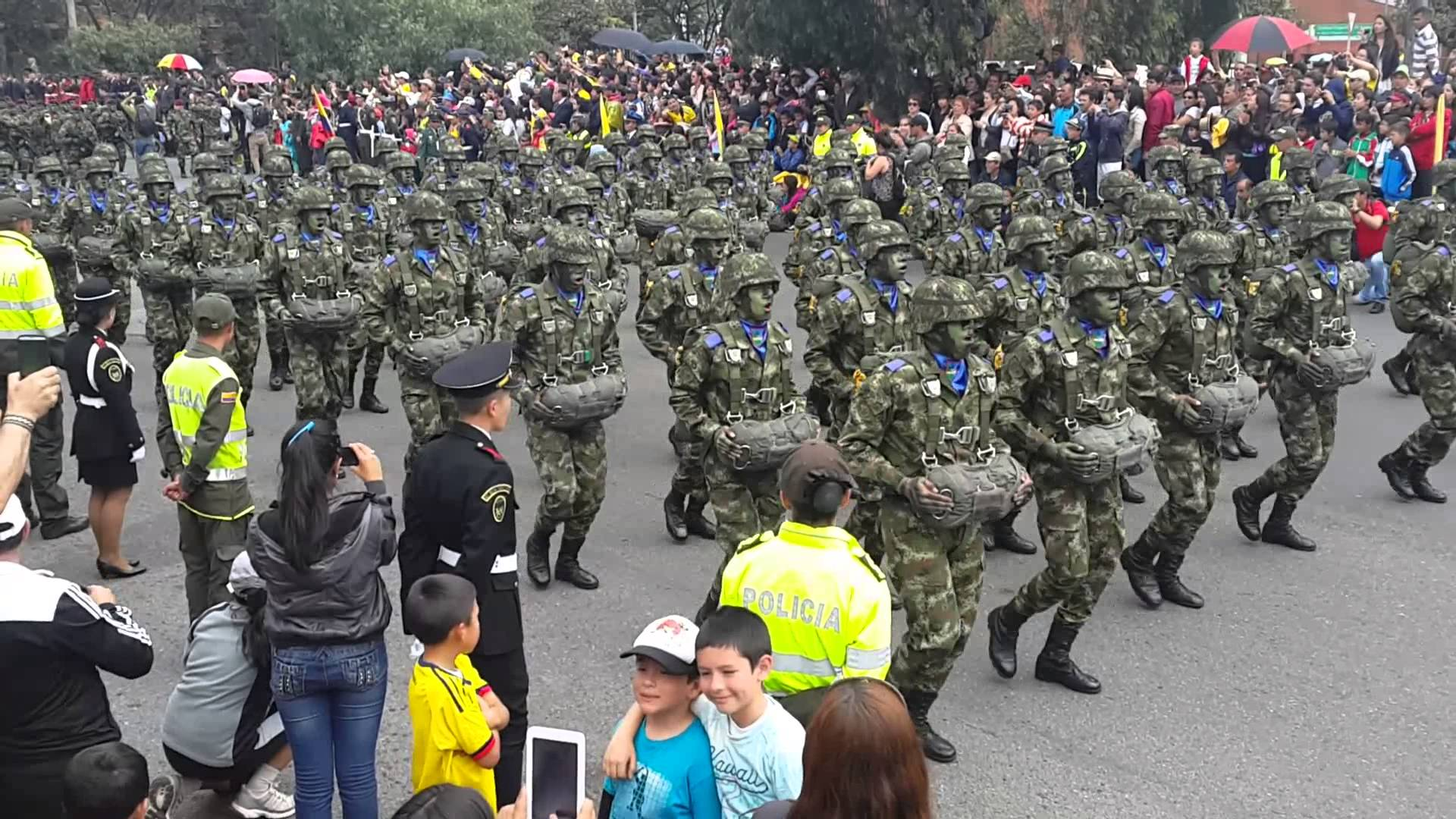 desfile militar en Bogotá