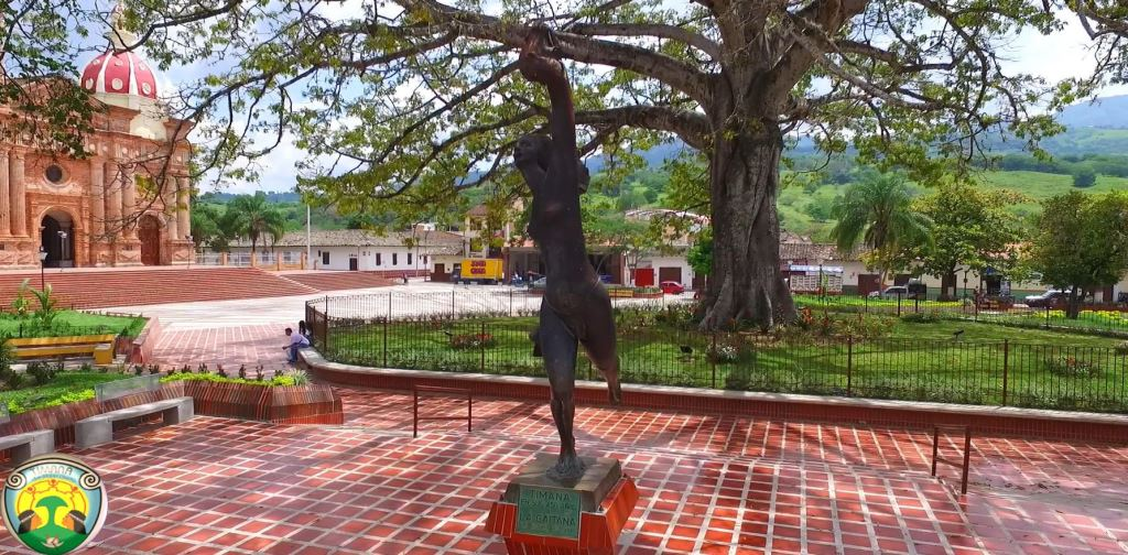 Homenaje a la Cacica Gaitana en la plaza principal del municipio de Timaná, Sur del Huila. Foto Suministrada
