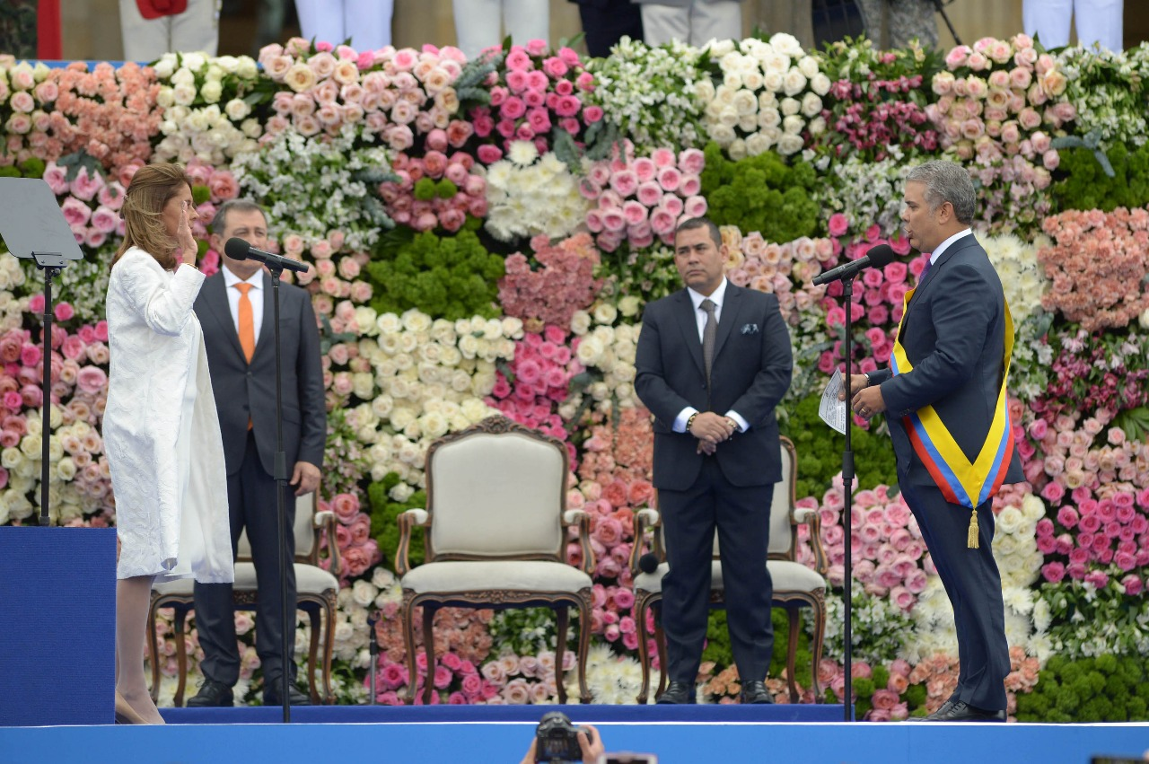 En la imagen, presidente Duque y la vicepresidenta Marta Lucía Ramírez.