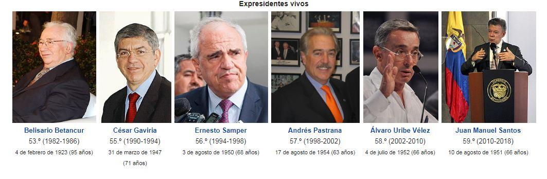 Uno a uno, estos son los rostros de los expresidentes colombianos que viven en la memoria y el presente colombiano.
