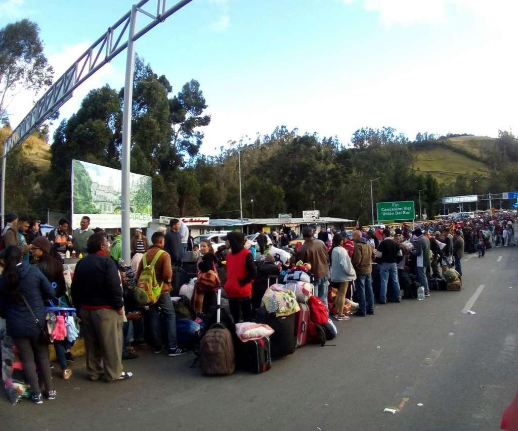 Venezolanos y frontera