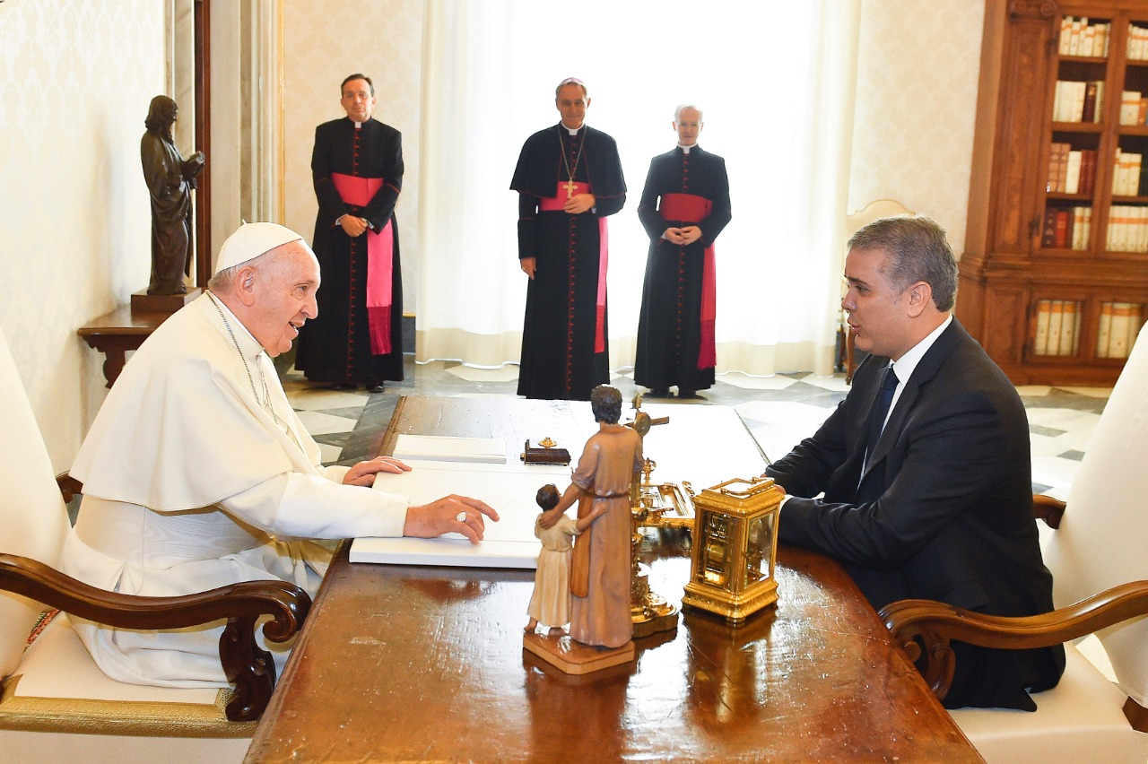 Encuentro Iván Duque y Papa Francisco