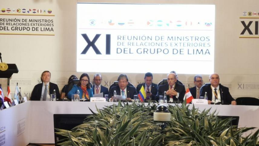 Inicia la reunión del Grupo de Lima. A la espera de la decisión que tomen