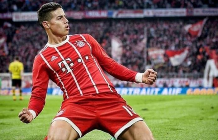 Confirmada la continuidad de James Rodríguez en el Bayern Múnich para la próxima temporada