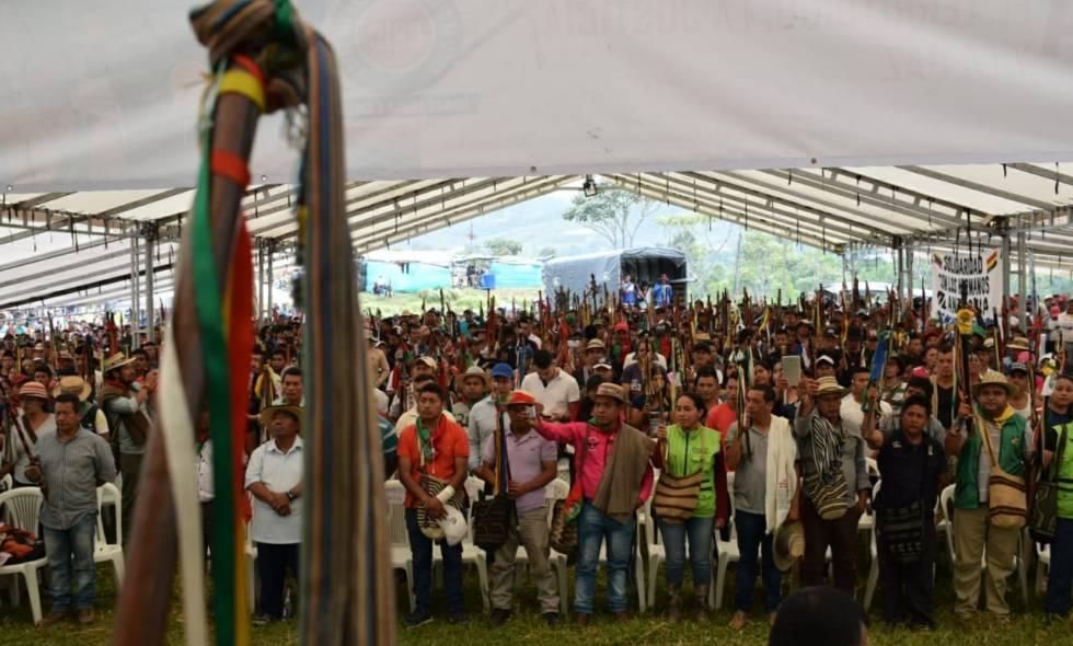 La minga en el Cauca convoca a paro nacional indígena