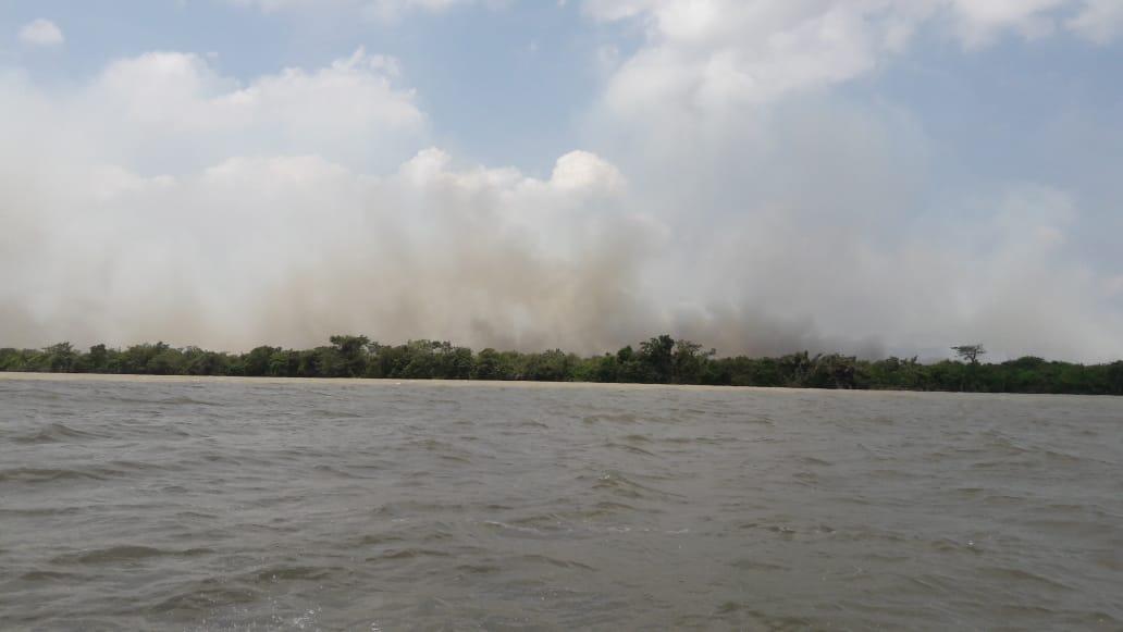 El fuerte calor causó incendio en el Parque Nacional Natural Los Katíos