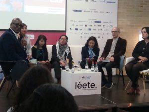 Algunos de los autores de la obra presentada en la Filbo. Foto: hm