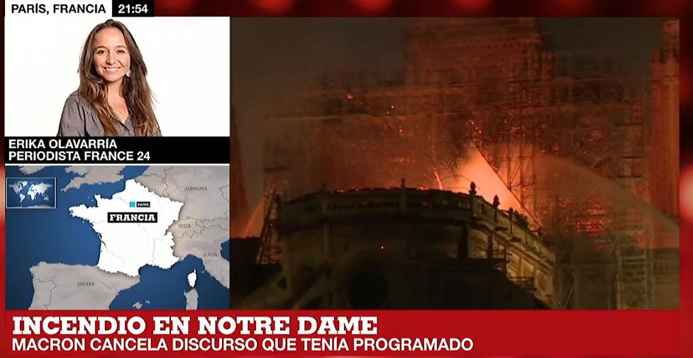 EN VIVO: Incendio en Catedral de Notre Dame, París Francia