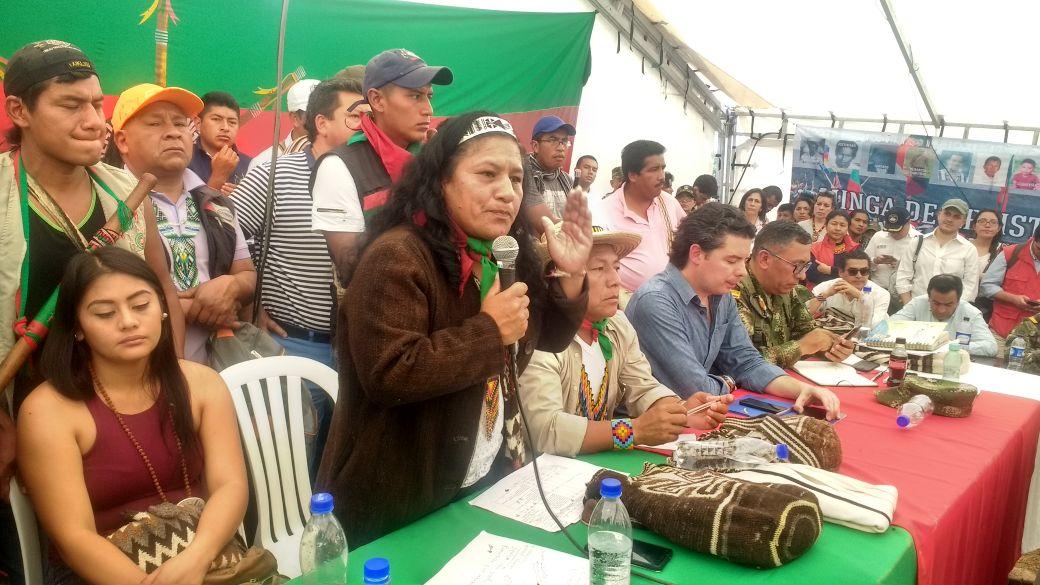 Se suspenden diálogos entre comunidades indígenas y el Gobierno Nacional