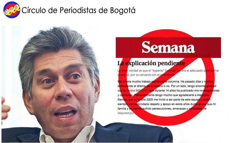 El Círculo de Periodistas de Bogotá se pronuncia sobre caso de Daniel Coronell y Revista Semana