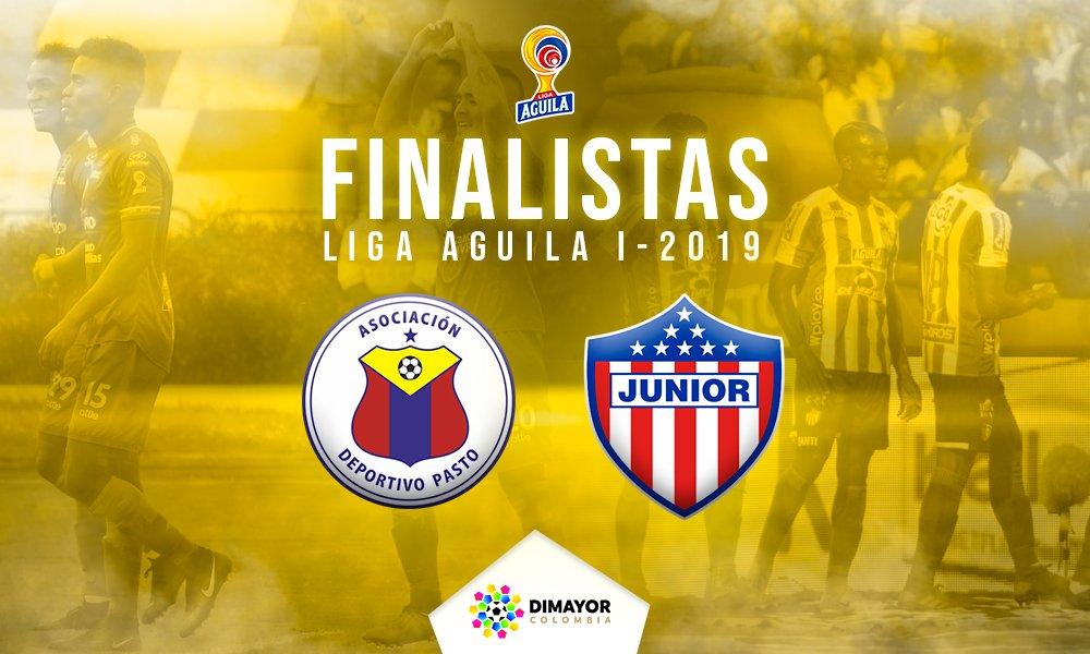 Junior y Pasto, protagonistas de la final de la Liga Águila
