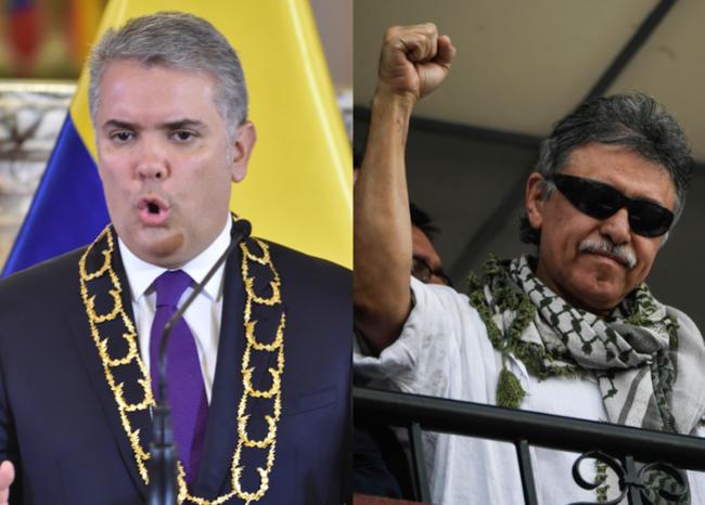 """""""Un extraditable y mafioso se burla de la sociedad colombiana""""  Duque sobre la posesión de Santrich"""