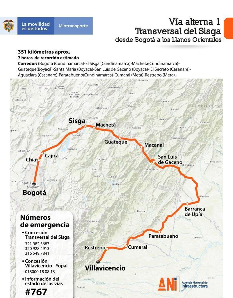 Villavicencio: Por derrumbe, colapsó puente en vía Bogotá