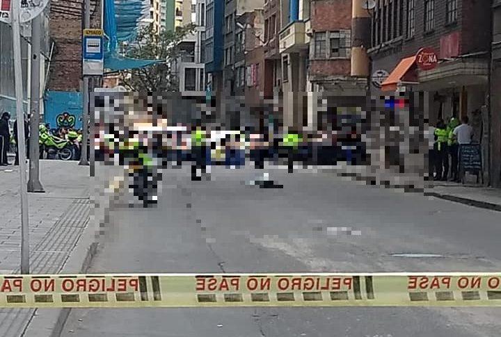 Persona cae desde el quinto piso del edificio Bacatá en Bogotá