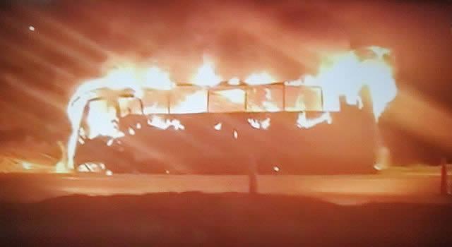 Nuevamente Incineran bus en Soacha
