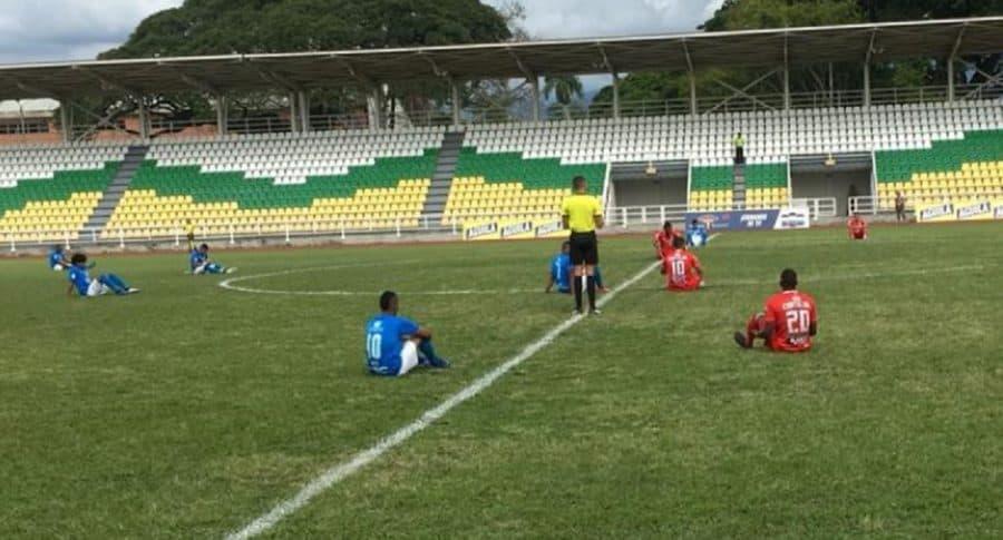 Protestas de futbolistas colombianos