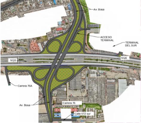 Construirán intercambiador vial entre Soacha y Bosa