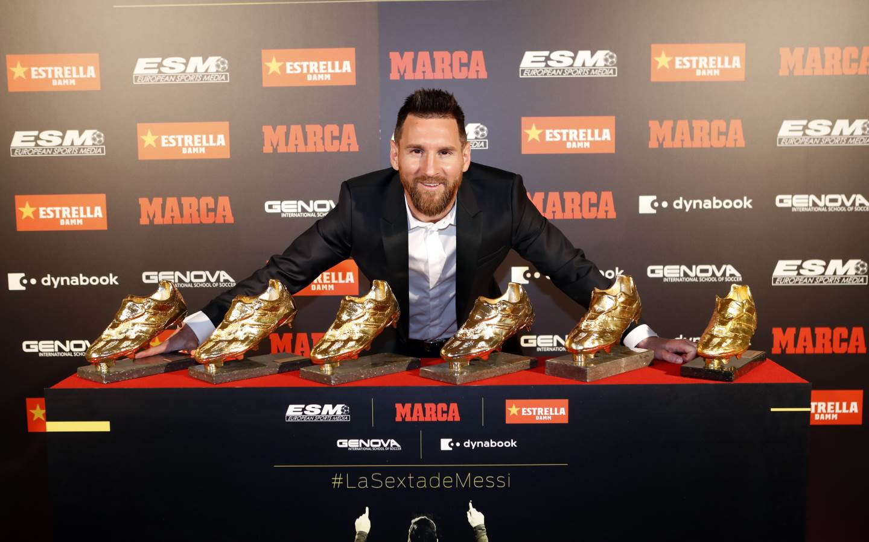 Mateo y Thiago Messi, entregan bota de Oro a Messi