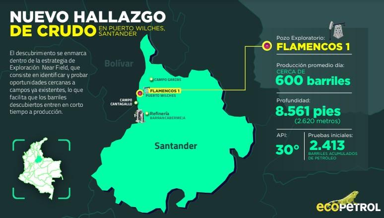 Hallan crudo en el pozo Flamencos-1 en Santander