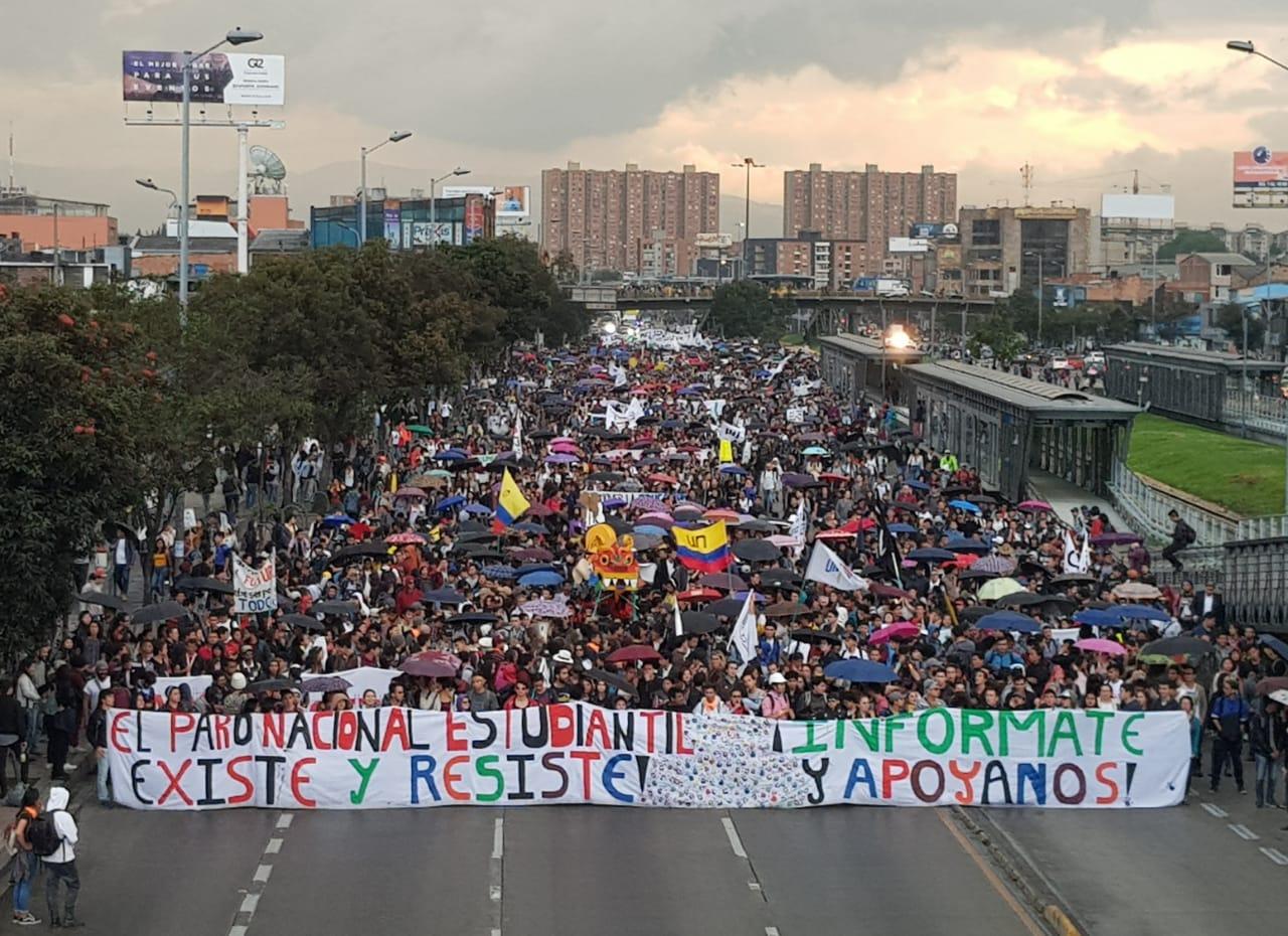 Nuevas protestas estudiantiles se movilizaran hoy en Bogotá