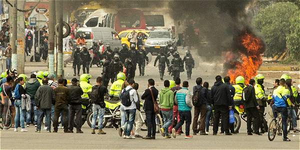 Manifestaciones estudiantiles a esta hora en Soacha