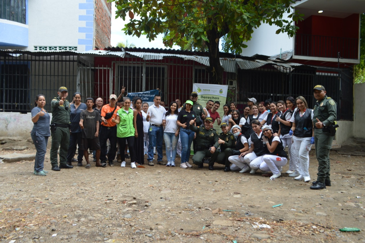 Estudiantes de UNIMINUTO en campaña para resocialización de los habitantes de calle en Neiva
