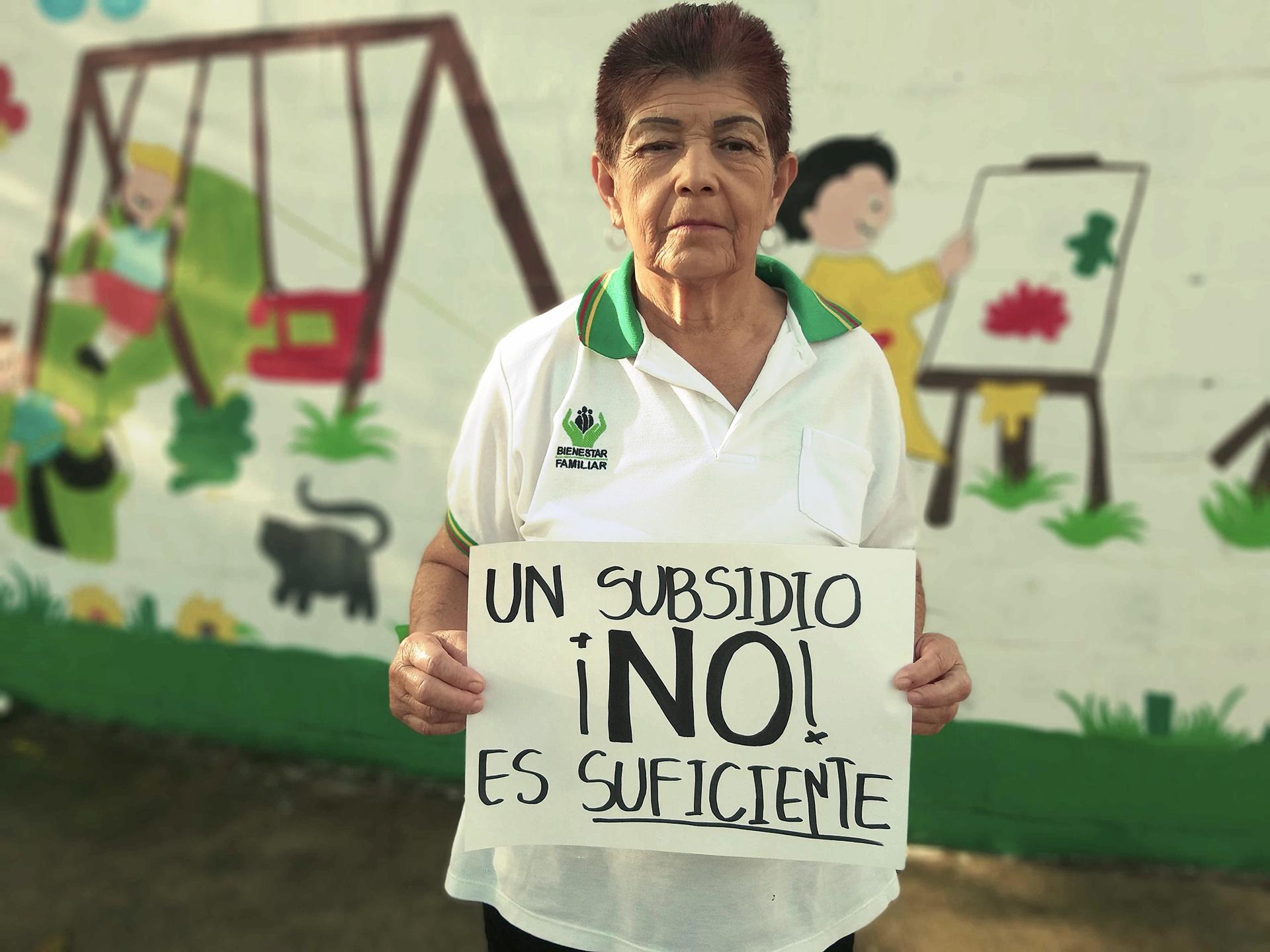 Por una pensión digna a las Madres Comunitarias