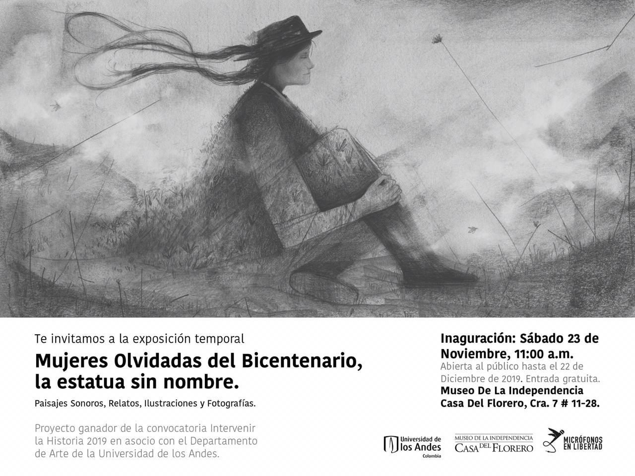"""Mujeres olvidadas del Bicentenario, """"Paisajes sonoros, relatos, ilustraciones y fotografías"""