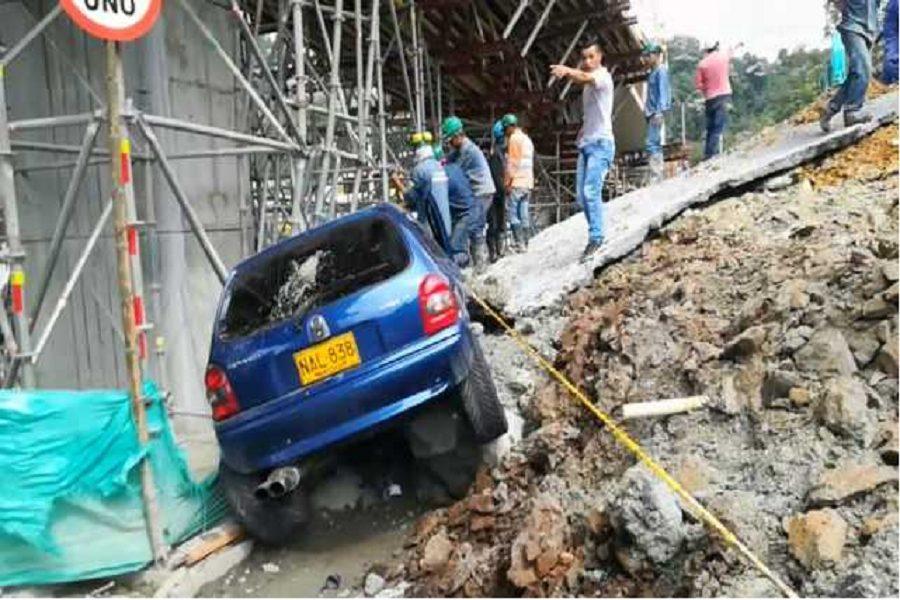 Emergencia en Manizales por deslizamiento en obras viales