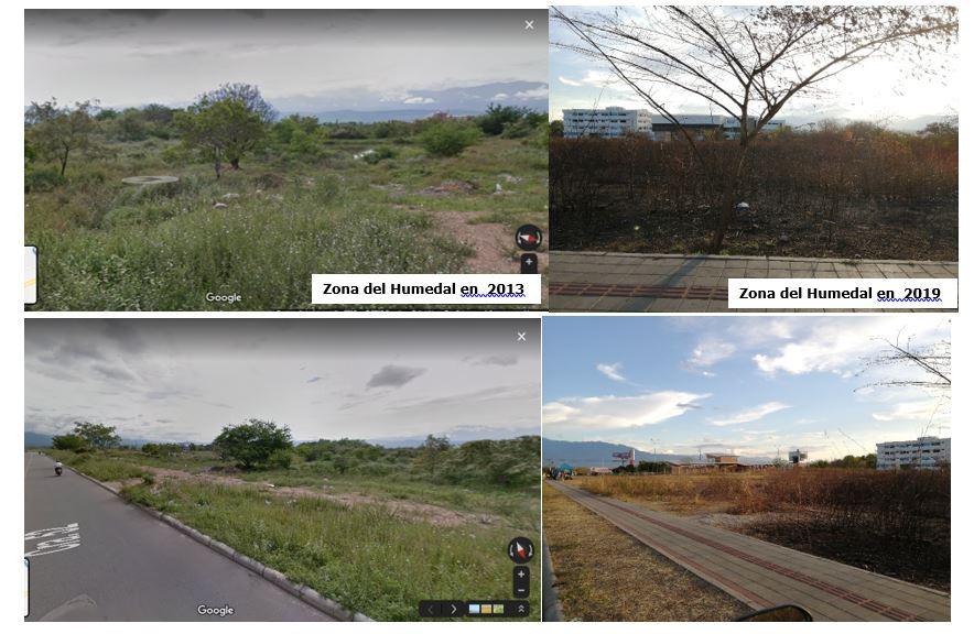 Humedal El Curíbano en vía de extinción  por crecimiento de las urbanizaciones en Neiva