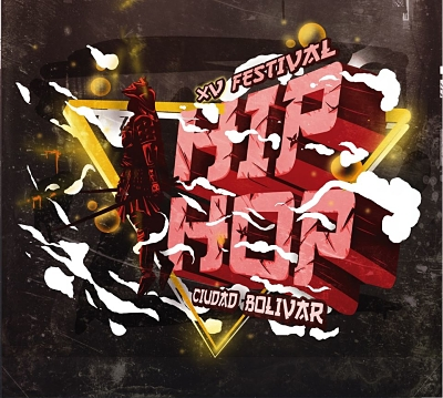 Flyer oficial del XV Festival de Hip Hop Ciudad Bolívar