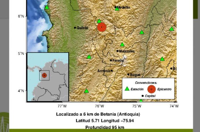 Temblor de 5.2 grados sacude el centro de Colombia