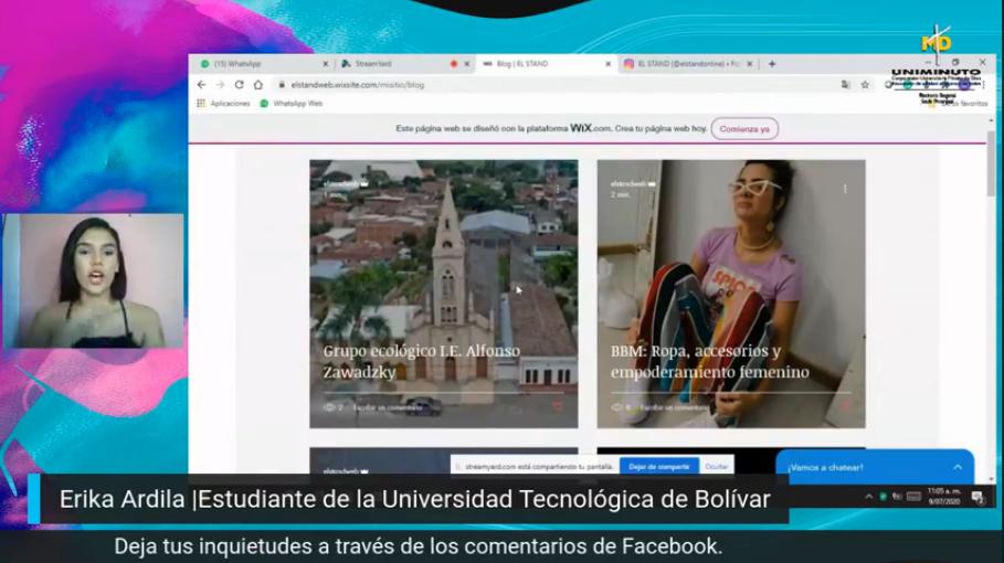 La profesora Carolina Osipna junto a tres colegas, explicaron como se realizan las narrativas digitales y que implica para los estudiantes entrar en esta nuevas dinámicas desde lo virtual.