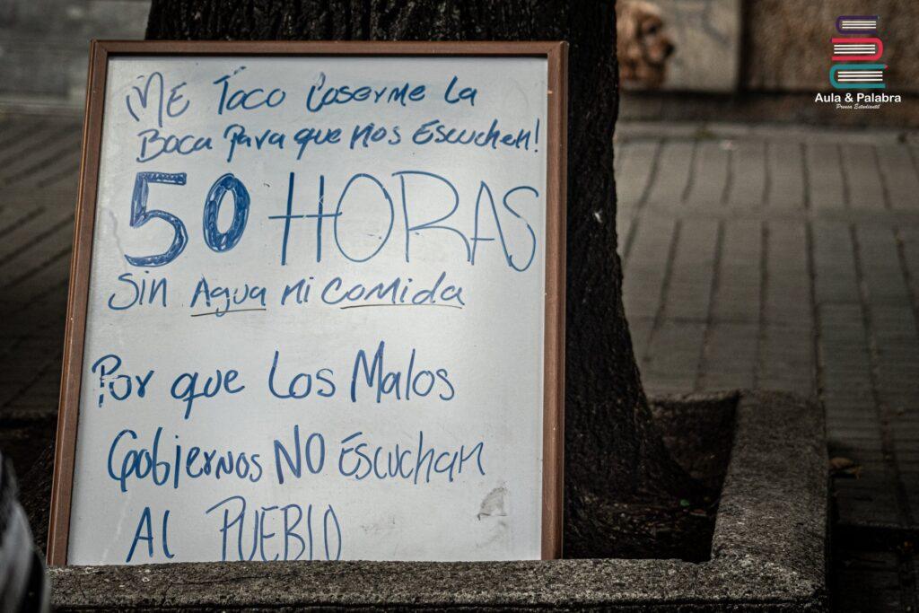 huelga de hambre artista colombiano