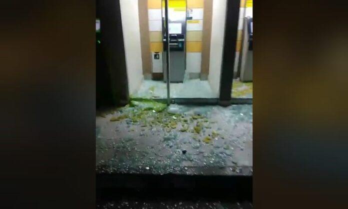 Entidades bancarias vandalizadas