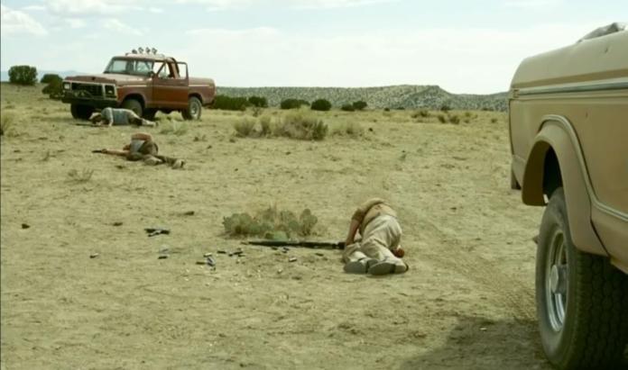 """Fotograma de la película """"No Country for Old Men"""". Dirigida por los hermanos Coen. Basada en la novela """"No es país para viejos"""", de Cormac McCarthy."""